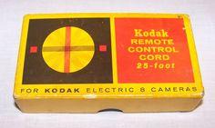 Eastman Kodak Electric 8 Camera Remote Control Cord 25 ft. Vintage Accessory