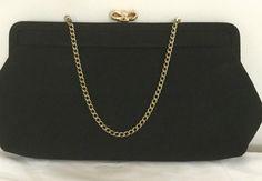 Black Clutch - Clutch Bag - Evening Bag