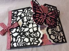Stampin' Up! 2016 - floral boutique suite, butterfly thinlits, and sweet Sugarplum ruched ribbon.