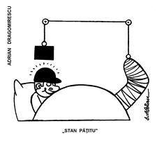 """""""STAN PATITU'"""".  Caricatura de ADRIAN DRAGOMIRESCU publicata in almanahul PERPETUUM COMIC '97 editat de URZICA, revista de satira si umor din Romania"""