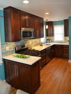 electric blue kitchen by rjk construction inc fairfax va wwwrjkconstructioninccom - Kitchen Cabinets Fairfax Va