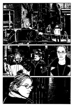 The Homeless Channel by Matt Silady, 2007. Art from Eisner-nominated graphic novel, The Homeless Channel.