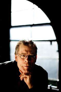 """Stephen King. 6th Floor Museum. November 2011 Dallas, Texas © Allison V. Smith  """"Last Thursday at 9 a.m.,  I spent 10 minutes photographing author Stephen King for today's USA Today. I photographed him near the window Oswald perched in 48 years ago when he shot the fatal shots. King was cool, unexpectedly funny and only sort of scary.. just kidding, he wasn't scary at all. He even admitted to feeling creeped out by being on the 6th floor.""""    Cool."""