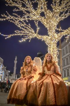 Christmas Angels at the Maria-Theresian Straße Christmas Market in Innsbruck, Austria