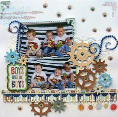 Boys will be Boys Scrapbook.com