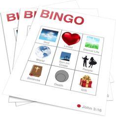 John 3:16 Bingo http://www.childrens-ministry-deals.com/products/john-3-16-bingo