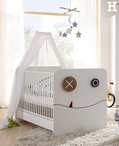 """Die """"Minimo"""" Serie von von hülsta lässt sich individuell zusammen stellen und wächst mit dem Kind mit. #babybett #babyzimmer #kinderzimmer #möbel #individuell #idee #inspiration"""