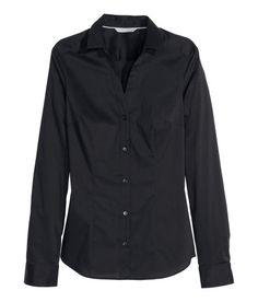 Stretch Shirt | White | Ladies | H&M US