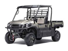 New 2017 Kawasaki Mule Pro-FX Ranch Edition ATVs For Sale in Texas. 2017 Kawasaki Mule Pro-FX Ranch Edition, 2017 Kawasaki Mule Pro-FX THE KAWASAKI DIFERENCE MANAGING A RANCH IS HARD WORK. TO GET THE TOUGHEST JOBS DONE, THE MULE PRO-FX RANCH EDITION SIDE X SIDE IS BUILT FOR VERSATILITY, CAPABILITY AND COMFORT AND STANDS APART WITH PREMIUM FEATURES AND STYLING. Features may include: Massive Cargo Bed can fit a standard size 40'x48' pallet with the tailgate closed Premium Features: Alloy…