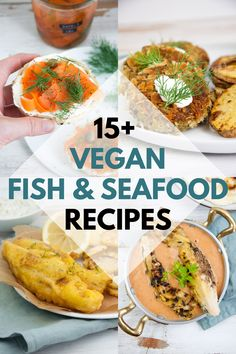 15+ Vegan Fish & Seafood Recipes you will love! Including battered fish, tuna, scallops, lox, fish tacos and many more! | ElephantasticVegan.com #vegan #fish #seafood Vegan Breakfast Recipes, Delicious Vegan Recipes, Raw Food Recipes, Seafood Recipes, Vegetarian Recipes, Dinner Recipes, Healthy Recipes, Vegan Meals, Vegan Vegetarian