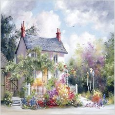Quiet Cottage 40*50cm painting by numbers vintage home decor wall art pictures oil painting on canvas cuadros decoracion M615(China (Mainland))