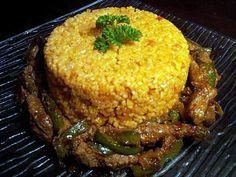 Boulgour 0 la turque avec aiguilette de biftek poivron