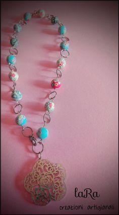 Collana realizzata con perle in fimo :)