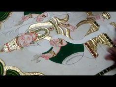 Tanjore Paintings in Telugu//Colouring process 4 Painting Art, Paintings, Tanjore Painting, Outline Drawings, Hindu Deities, Colouring Techniques, Siri, Telugu, Painting Inspiration