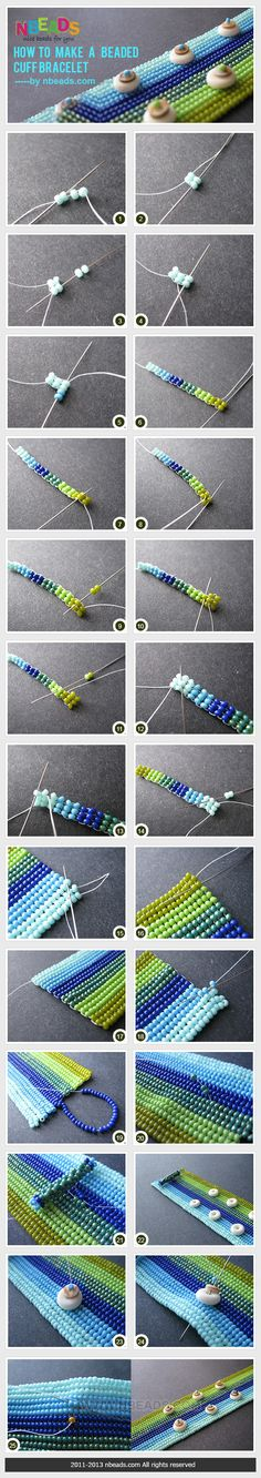 How to make a beaded cuff bracelet