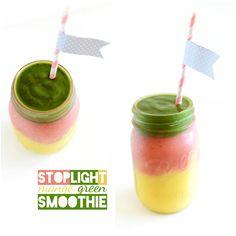 Stoplight Mango Green Smoothie! Breakfast is fun again.