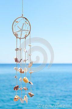 Sea shell decoration in the village of Loutro, Crete