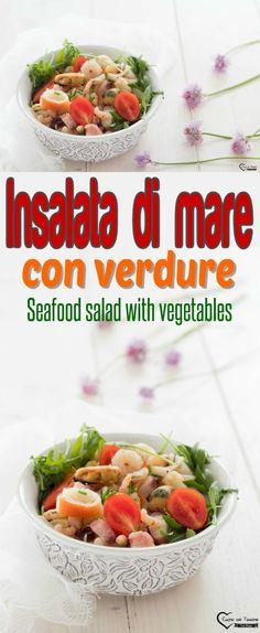 Insalata di mare con verdure, insalata di mare ricetta, insalata di mare light, insalata di mare estiva, antipasto di mare, insalata di mare antipasto, Seafood salad with vegetables, sea salad recipe, light sea salad, summer sea salad, seafood appetizer, seafood salad appetizer #cucin a#ricette #recipes #insalatadimare #estate #verdure Seafood Appetizers, Seafood Salad, Appetizer Salads, Best Appetizers, Seafood Recipes, Antipasto, Latest Recipe, Budget Meals, Food Allergies