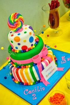 I like the rainbow theme the cake is beautiful maybe to much but I love it!