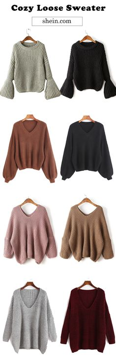 Casual cozy loose sweater collect for women.