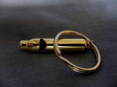 223 Shell casing keychain whistle - LOUD - walking, hiking, survival. $15.00, via Etsy.