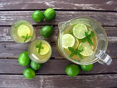 Mint and lime iced green tea   One Ordinary Day