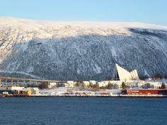 Arctic cathedral , viewed from the Hurtigruten ship- Midnatsol Trondheim Norway, Cruise Packages, Alesund, Us Sailing, Tromso, Arctic Circle, Lofoten, Natural Phenomena, Walking Tour