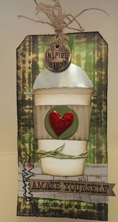 Ruby Craft: For Tim's June 12 Tags of 2015 - Coffee! Thanks for the Coffee Cup Die Cuts