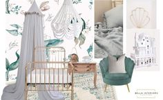 Summer may be finished, BUT Autumn is here! And Summer is still alive with a beautiful ocean themed room like this one designed by @bella_interiors_23. Anyone else digging the beautiful ocean teal in this moodboard? x Beautiful Ocean, Room Themes, Ocean Life, Bedroom Inspiration, One Design, Mood Boards, Kids Bedroom, Rattan, New Baby Products