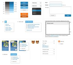 Nathan Borror putting many ui elements on one page, as a way of ensuring consistency during the design process.