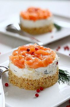 "Salmon and ricotta ""cheesecake"""