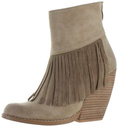 From the 2016 Very Volatile Collection comes the Contempo Women's Fringe Booties. These booties feature: made of fax leather upper with eye catching fringe, rea