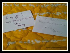 special birthday traditions - birthday letters