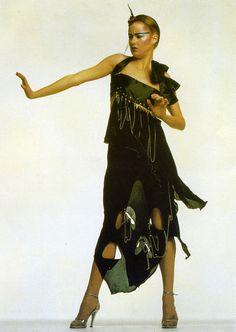 Punk inspired dress late 1970s by Zandra Rhodes