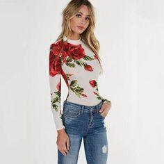 f5c568ab87f4 Elegant Floral Jumpsuits Long Sleeve