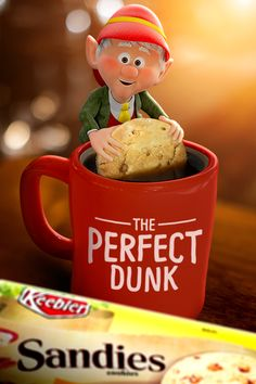 "Nothing helps me enjoy my ""me time"" more than a coffee-soaked Keebler Pecan Sandies Shortbread cookie after the perfect dunk. Thankfully, I practice it every day!"