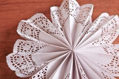 Large paper doily pleated rosette