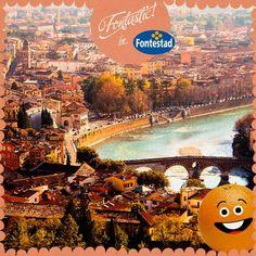¿Qué ciudad italiana está visitando nuestra naranjita? Una pista: se enamoraron Romeo y Julieta.