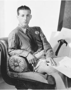 """(Gilbert Adrian Greenburgh) Costume and fashion designer, American couture genius. Made Sculptural designs, fabulous large scale """"conversation"""" prints, draping and bias cutting. Norma Shearer, Jean Harlow, Katharine Hepburn, Clark Gable, Fred Astaire, Dandy, The Great Ziegfeld, Orry Kelly, Star Of The Day"""