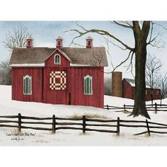 Trendy Decor Lover Knot Quilt Block Barn by Billy Jacobs, Ready to hang Framed Print, Black Frame, 27 x 21 Barn Quilt Designs, Barn Quilt Patterns, Billy Jacobs Prints, Painted Barn Quilts, Country Barns, Country Life, Primitive Country, Primitive Decor, Country Farmhouse