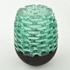 Stacked Glass Tealight Holder $12