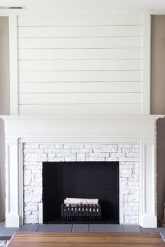 DIY Fake Fireplace Facades + Faux Mantel Makeovers | Apartment Therapy Fireplace Ideas, Fireplace Facade, Basement Fireplace, Fireplace Update, White Fireplace, Farmhouse Fireplace, Fireplace Remodel, Fireplace Surrounds, Mantel Ideas