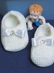 Receita de Tricô: Sapatinhos de Bebê - receita