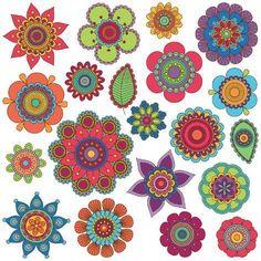 Hand Drawn Flowers Clipart Clip Art, Doodle Mandala Clip Art Clipart Vectors - Commercial and Personal Use Hand gezeichnete Blumen Clipart ClipArt Doodle von PinkPueblo Art Clipart, Flower Clipart, Vector Art, Vector File, Mandala Art, Mandala Tattoo, Lotus Mandala, Flower Mandala, Art Doodle