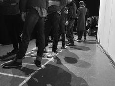Canali AW14 Fashion Show #backstage #models