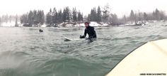 Surfers treated to snow day fun (December 11, 2013 issue)
