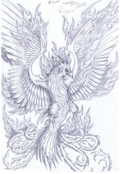 Phoenix Sketch .... I love the face and style but not so much the the position