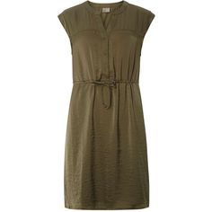 Dorothy Perkins **Vero Moda Khaki Short Sleeve Dress ($59) found on Polyvore featuring women's fashion, dresses, khaki, short-sleeve dresses, short sleeve dress, khaki dress, dorothy perkins and brown dress