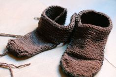 Knitted slippers for men by Hani
