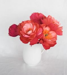 DIY Paper Coral Charm Peony at Design*Sponge
